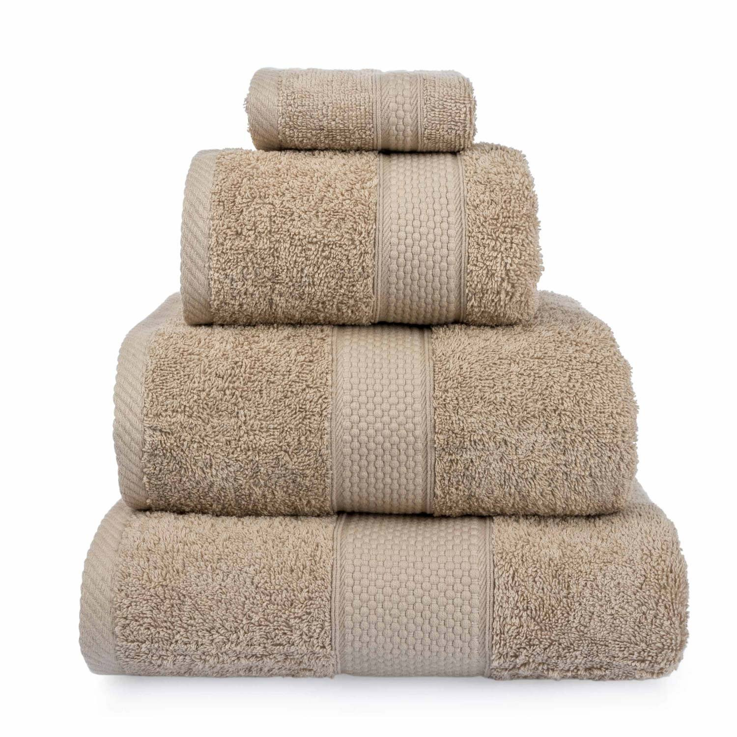 Homescapes Turkish Cotton 4 Piece Bath Towel Set Chocolate Very Soft and Absorbent, 500 GSM Heavy Weight for everyday Luxury
