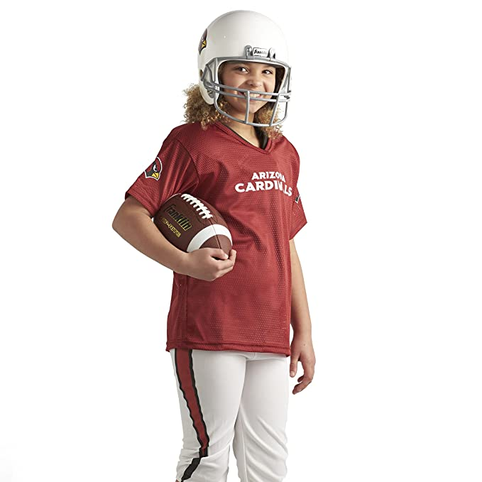f41a06d8 Franklin Sports Deluxe NFL-Style Youth Uniform – NFL Kids Helmet, Jersey,  Pants, Chinstrap and Iron on Numbers Included – Football Costume for ...