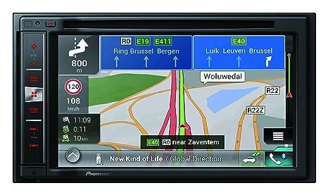 """Pioneer AVIC-F970BT - Sistema de navegación GPS 2 DIN con Pantalla resistiva DE 6.2"""""""