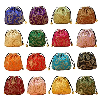 8bcbec4a5bb0 Bags Wrapping Supplies - 24pcs Silk Brocade Jewelry Pouch Bag ...