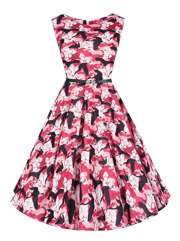 MEMBRANE N361 Damen Kleid Rockabilly Petticoat Sommerkleid Retro 50er Jahre Vintage Party