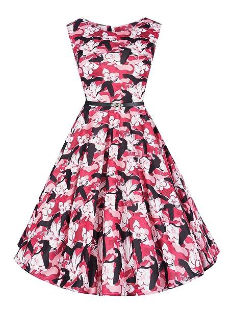 MEMBRANE N361 Damen Kleid Rockabilly Petticoat Sommerkleid Retro ...