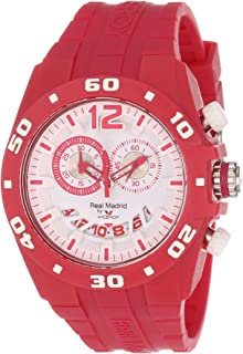 Viceroy Womens 432853-75 Real Madrid Sports Plastic Magenta Rubber Date Watch