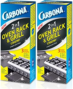 Carbona Oven Rack & Grill Cleaner | Eliminates Thick Grease & Build-Up | Griddle & BBQ Cleaning Solution | 16.8 Fl Oz, 2 Pack