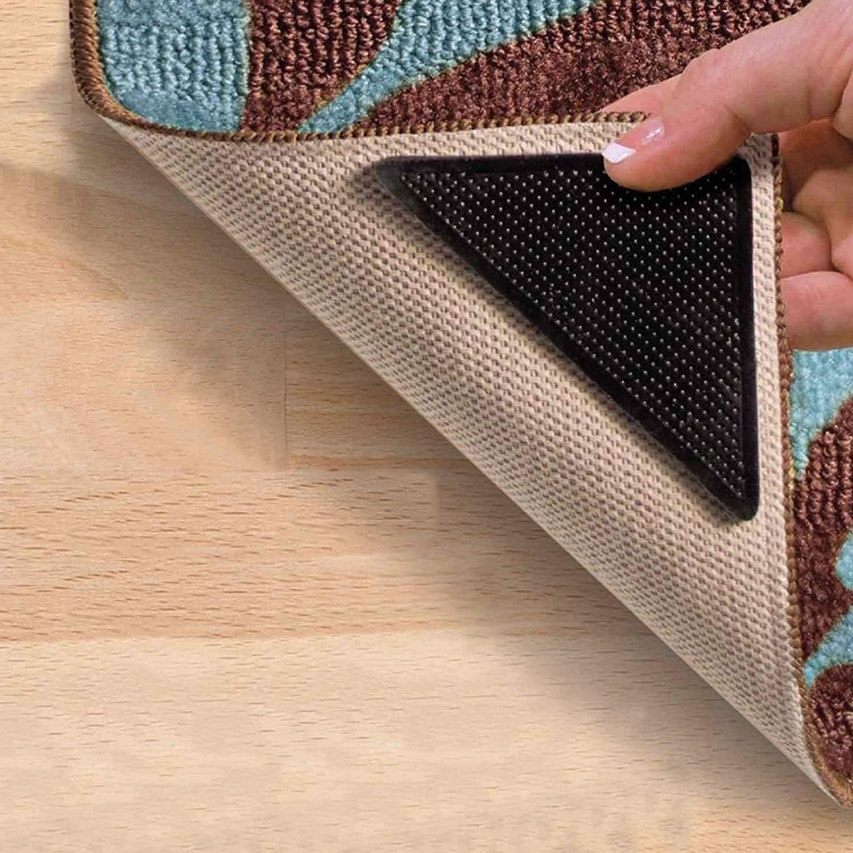 8 pieces of Rug Carpet Mat Grippers Non-Slip Skid Reusable UK