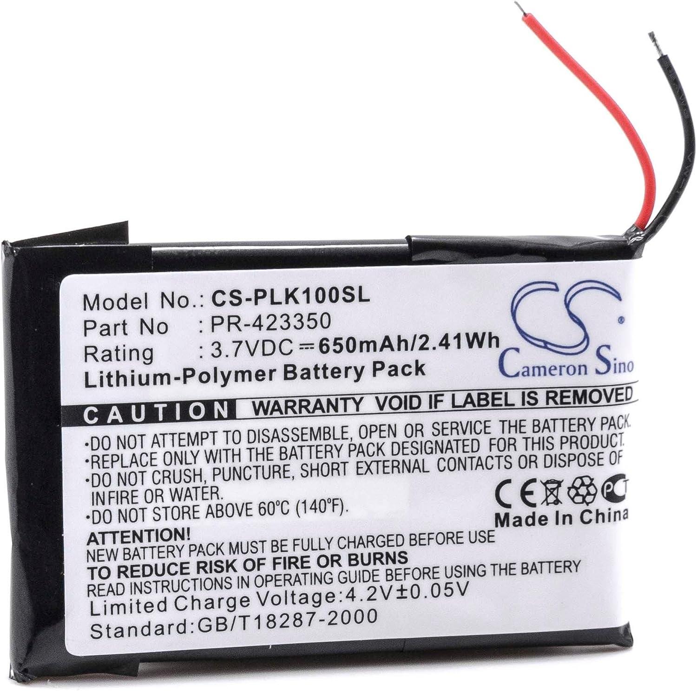 vhbw Batería polímero de Litio 650mAh (3.7V) para Auriculares inalámbricos, Auriculares, Manos Libres Plantronics K100