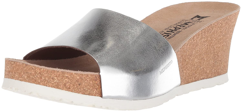 Mephisto Women's Lise Slide Sandal B073ZJYG2L 8 B(M) US|Nickel