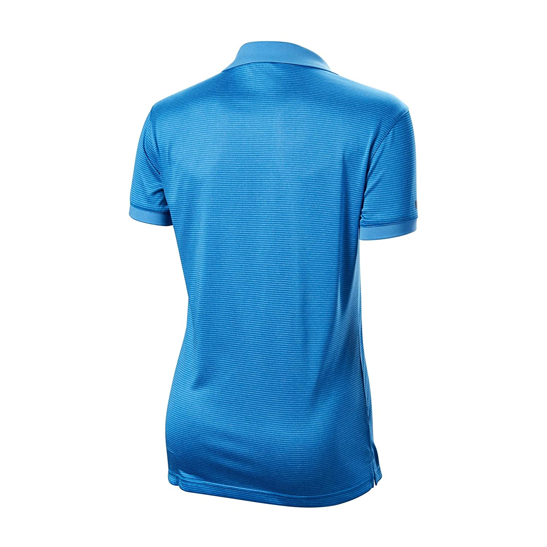 Wilson - Polo para Mujer (Talla L), diseño de Rayas, Color Azul ...
