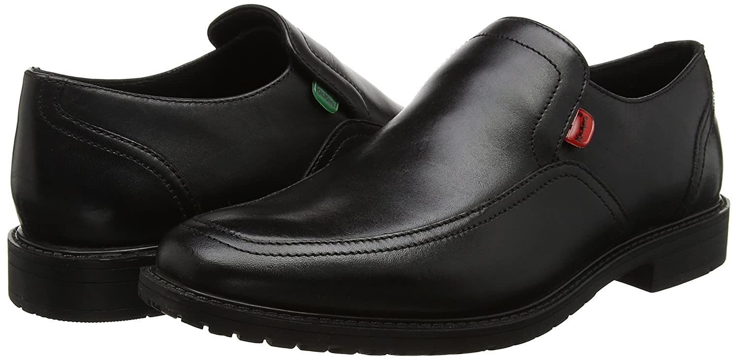 Amazon.com | Kickers Boys Chreston Slip MTO Lthr Ym Moccasins Black | Loafers