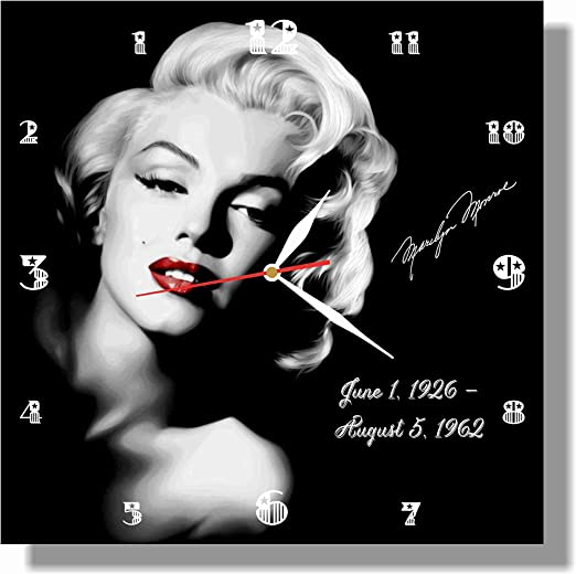friends Marilyn Monroe 11.4/'/' Handmade Wall Clock Best gift ideas for kids Get unique d/écor for home or office parents and your soul mates