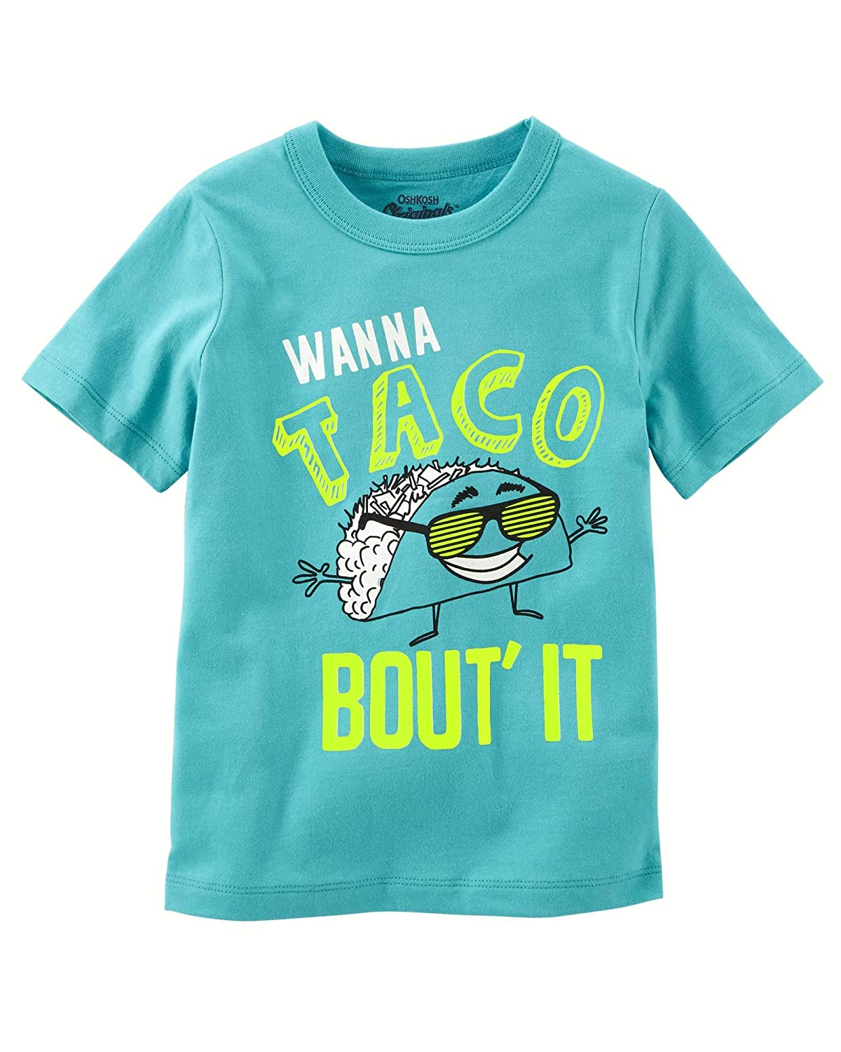 9-12m OshKosh Boys Wanna Taco Bout It Tee Turquoise