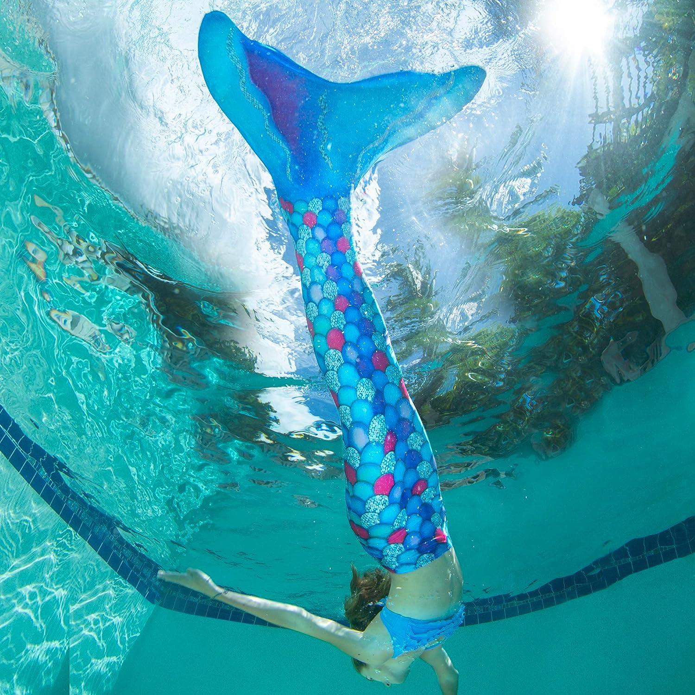 Fin Fun - Meerjungfrauenschwanz zum Schwimmen mit Monoflosse für Mädchen, Mädchen, Mädchen, Jungen, Kinder und Erwachsene B07K6TND2J Trainingsflossen Günstigstes 05f5e8