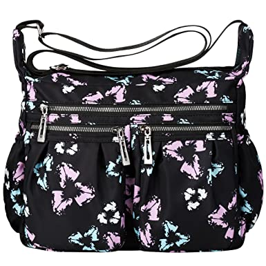 09451bd684 Image Unavailable. Image not available for. Color  VBG VBIGER Crossbody Bags  for Women Nylon Travel Purse Waterproof Shoulder Messenger Bag