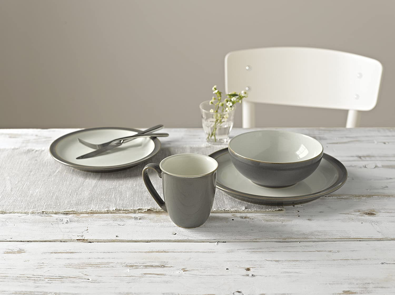 Amazon.com Denby USA Blends Truffle/Canvas 4 Piece Set Brown/Cream Kitchen u0026 Dining & Amazon.com: Denby USA Blends Truffle/Canvas 4 Piece Set Brown/Cream ...