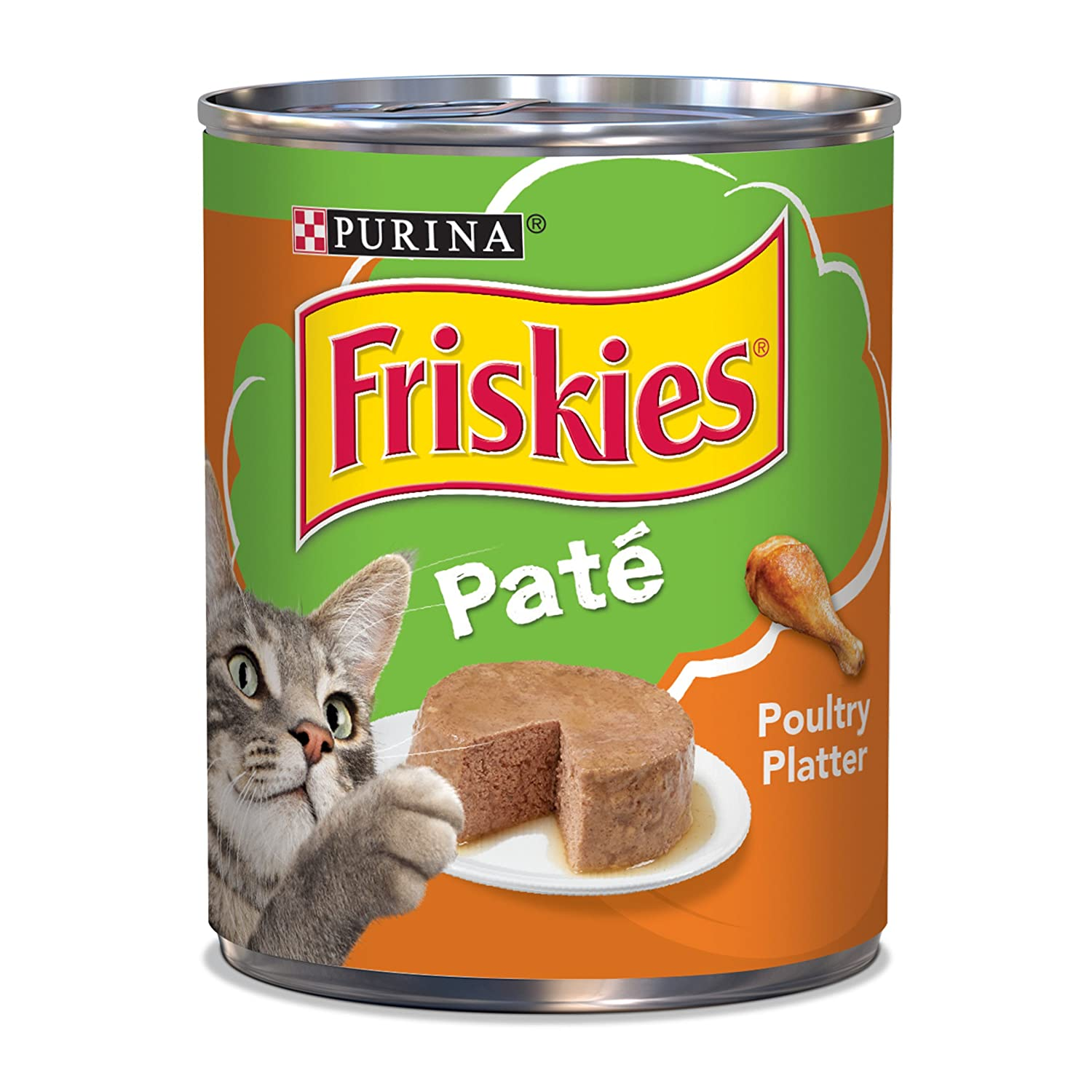 Purina Friskies Classic Pate Poultry Platter Wet Cat Food - (12) 13 oz  Cans