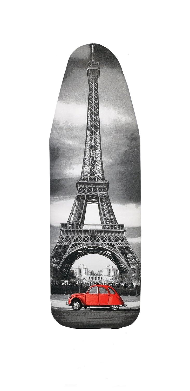 Copriasse da Stiro con 5 mm supporto in schiuma, Paris, 148/52cm, 100% Cotone str et003