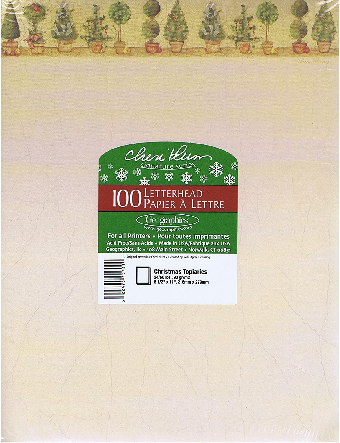 LETTERHEAD PAPER 100 CT BY GEOGRAPHICS MAIN STREET ....