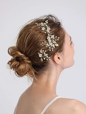 Amazon Com Fxmimior Bridal Women Bohemian Leaves Headpiece Leaf
