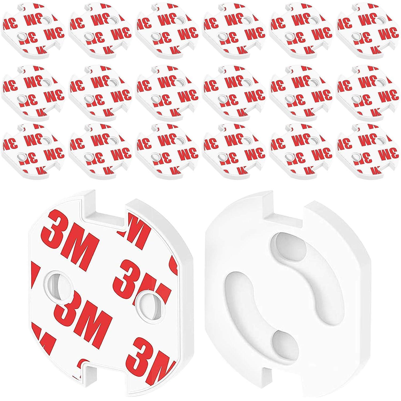 20 Stk Steckdosensicherung mit Drehmechanik Steckdosen f/ür Kindersicherung steckbar Steckdosen-Kindersicherung zum Kleben Steckdosenschutz f/ür Babys Kinder