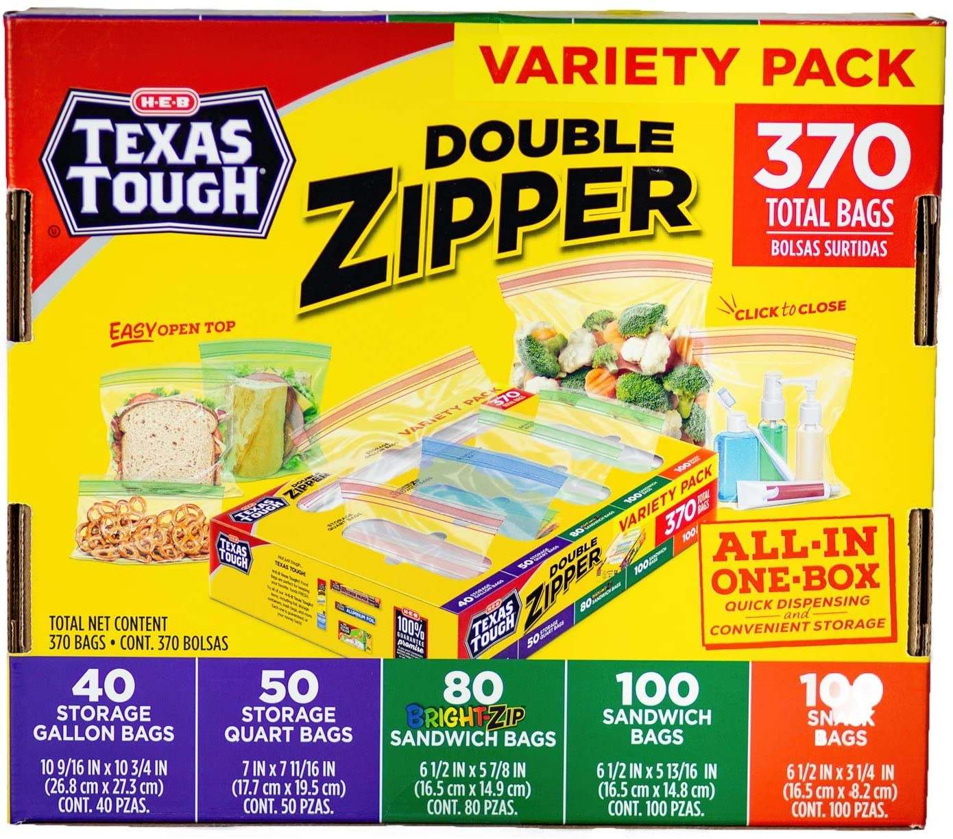 Texas Tough All-In-One Box 370 total bags