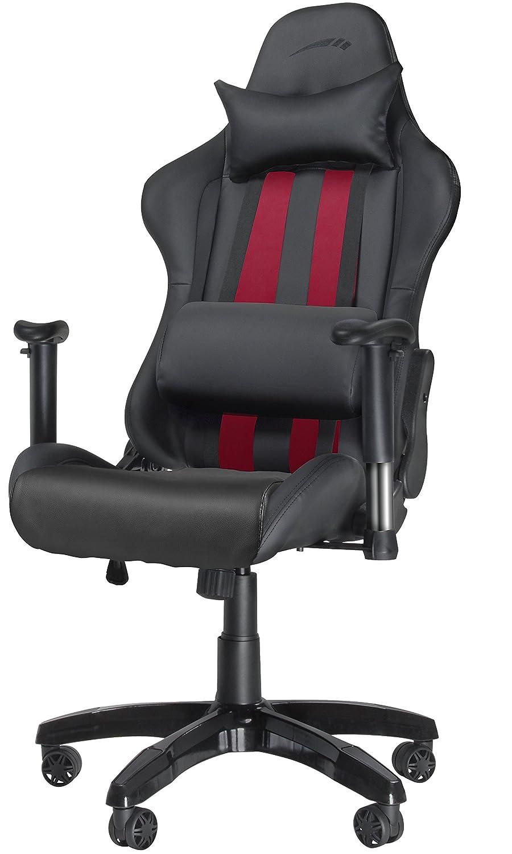 Speedlink Regger Optimised Gaming Chair SL-660000-BK-01, 360-Degree Swivel and Lumbar Support, Fully Adjustable, Black