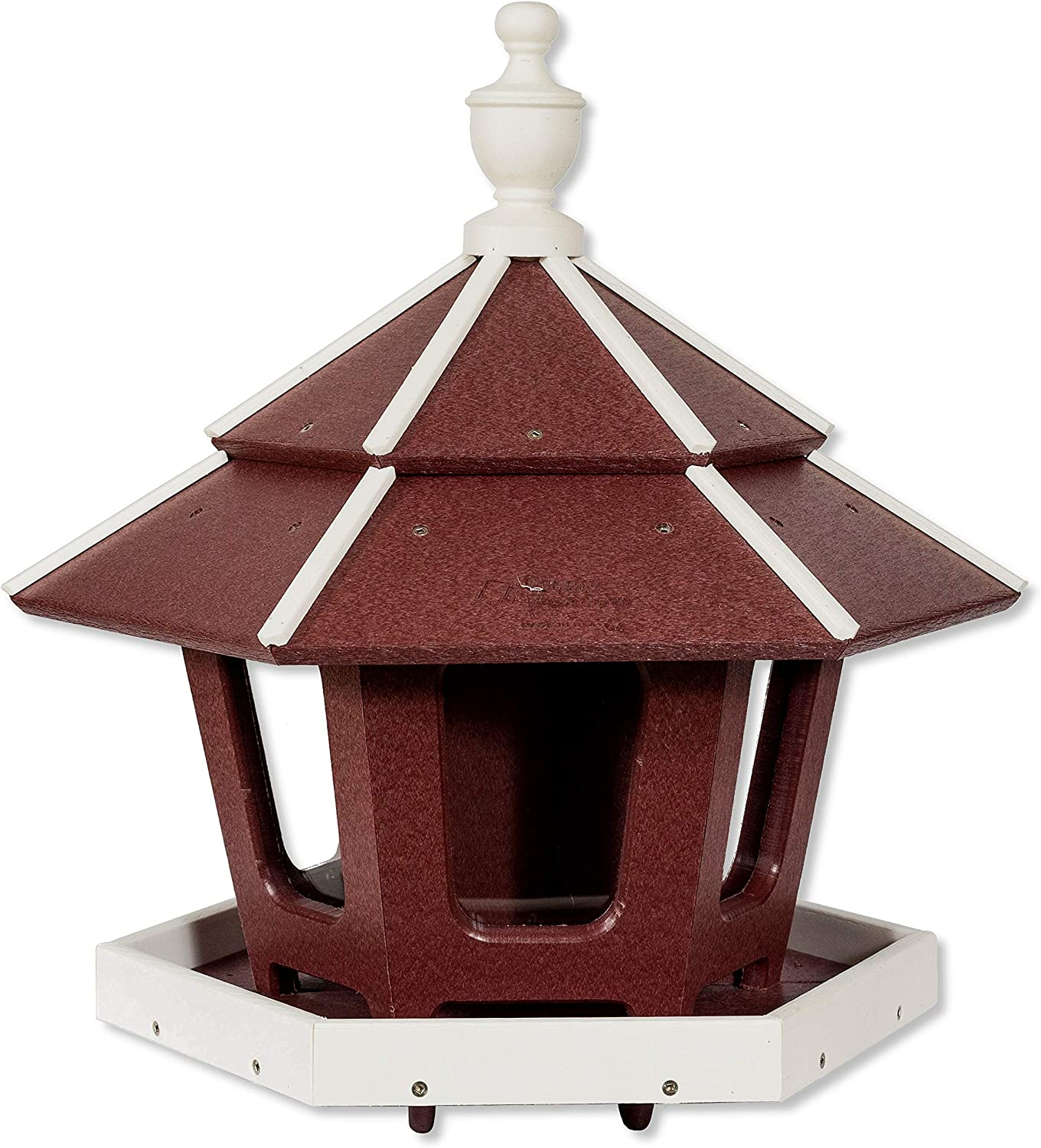 DutchCrafters Amish Poly 3-Compartment Gazebo (Cherry Wood & Bright White)