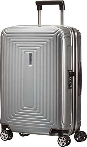Samsonite Neopulse Suitcase 4 Wheel Spinner 55cm Cabin Metallic Silver
