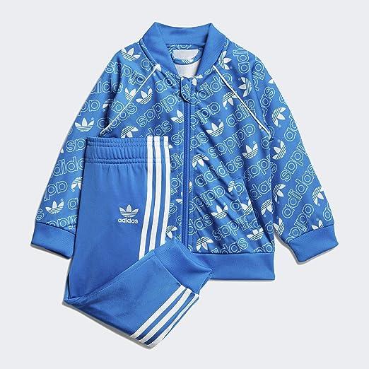 adidas I M TRF SIT Trainingsanzug für Babys, Blau/Weiß: Amazon.de ...