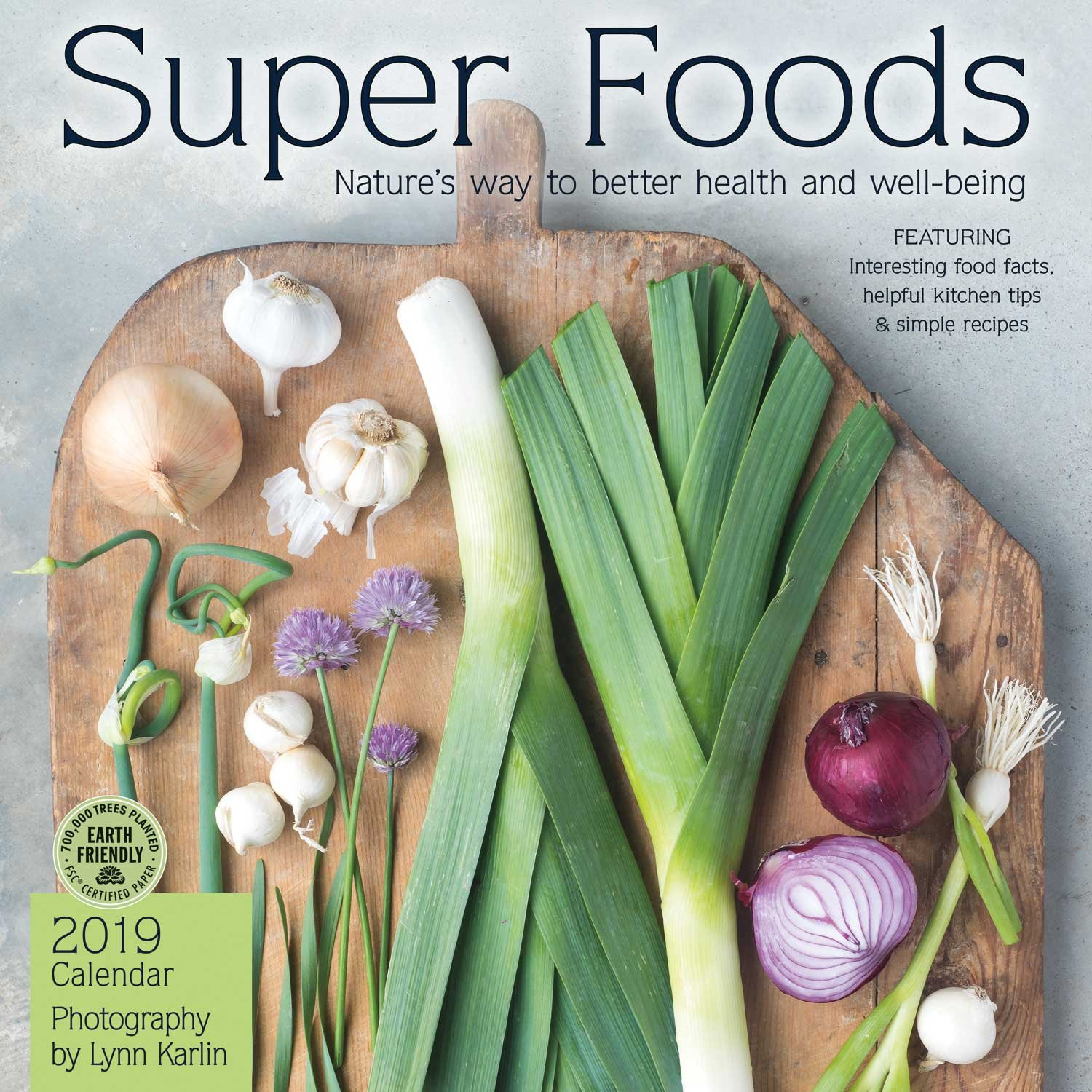 super foods 2019 wall calendar natures way to better health and well being