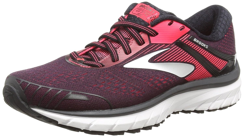 Brooks Adrenaline GTS 18, Zapatillas de Running para Mujer 38 EU|Multicolor (Black/Black/Pink 058)