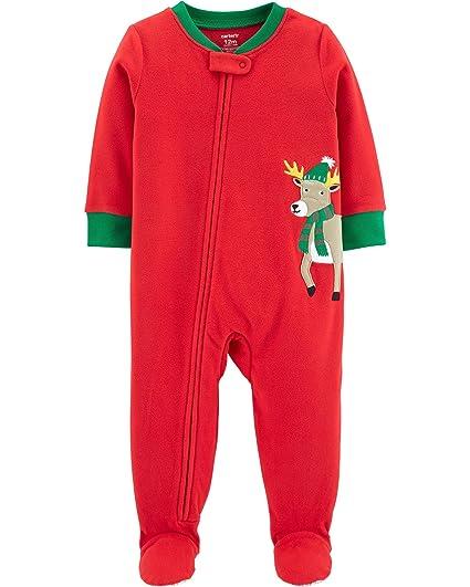 c56c2794f Amazon.com  Carter s Baby Boys  1-Piece Christmas Reindeer Fleece ...