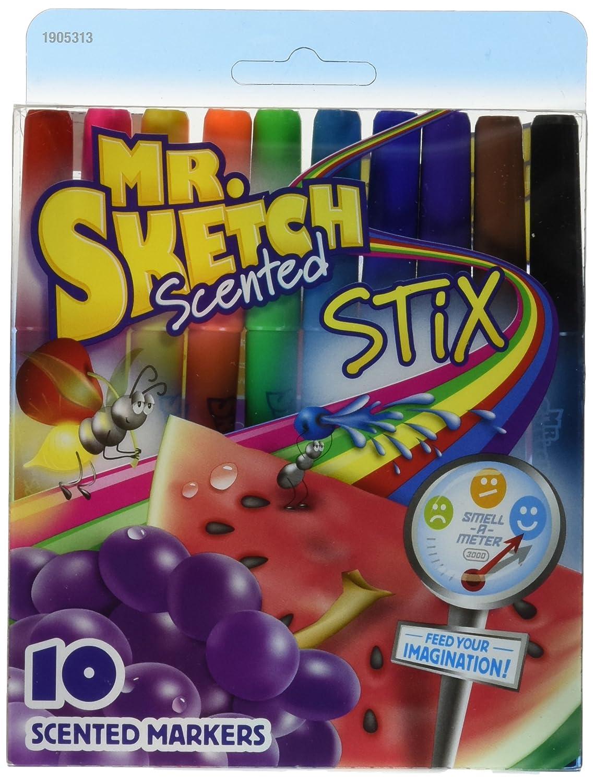 Mr.Sketch Scented Washable Marker Set 10 / Pkg-Stix Sanford SAN03610