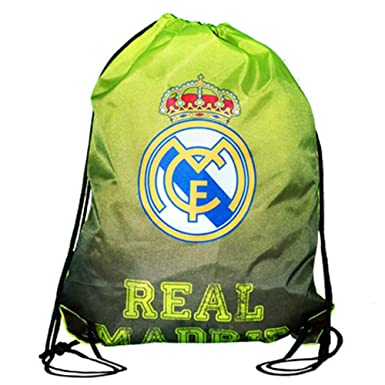 491914e8990 Real Madrid CF Official Neon Green Crest Drawstring Gym Bag (One Size) (Neon