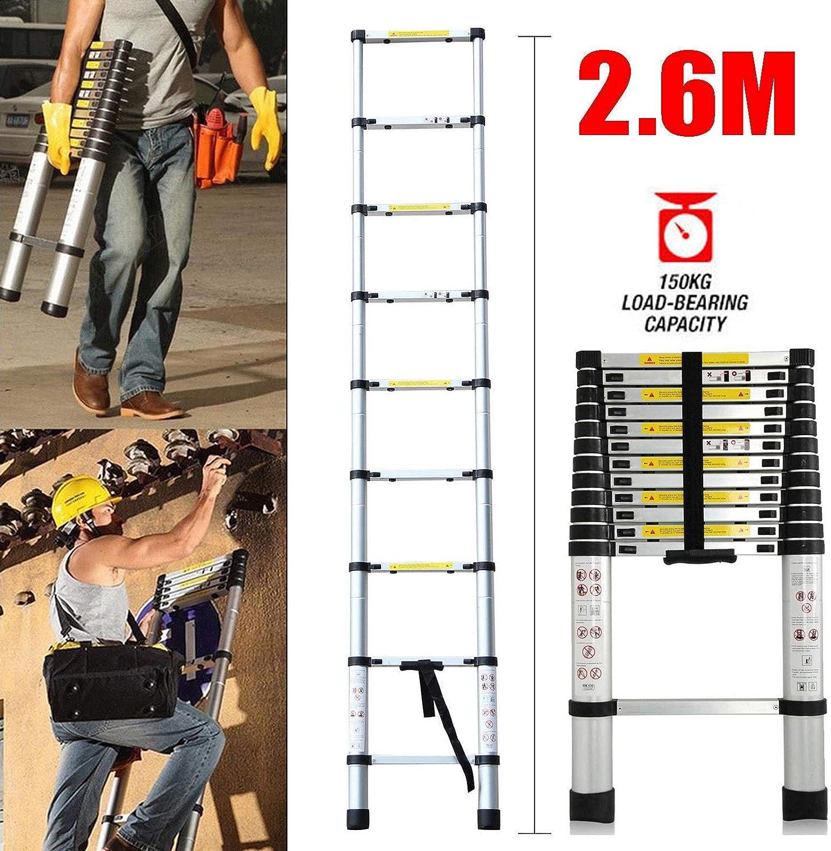 Mini /échelle en acier /à 2 marches portative capacit/é 150 kg avec pieds antid/érapants