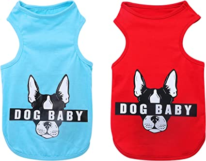 Sleeveless Dog T-Shirts for Small Medium Dogs and Cats Trump 2020 Printed Striped Puppy Tank Top Summer Cotton Pet Clothes