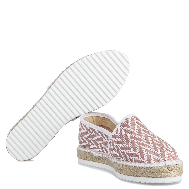 Haikon Hada Mujer Luisa 2 Alpargata Color Rosa Blanco: Amazon.es: Zapatos y complementos