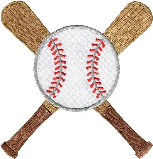 PatchMommy Pelota de Beisbol y Bates Parche Termoadhesivo Parche ...
