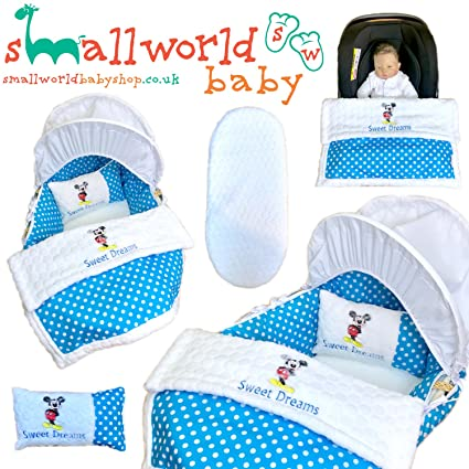 Funda para cesta personalizada, 5 piezas, para ropa de cama, asiento de coche