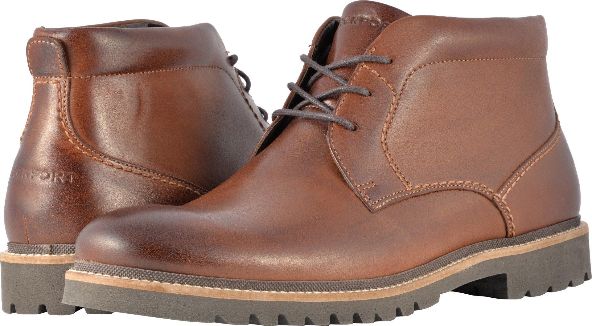 Rockport Men's Marshall Chukka Chukka Boot, Dark Brown Leather, 9.5 W US