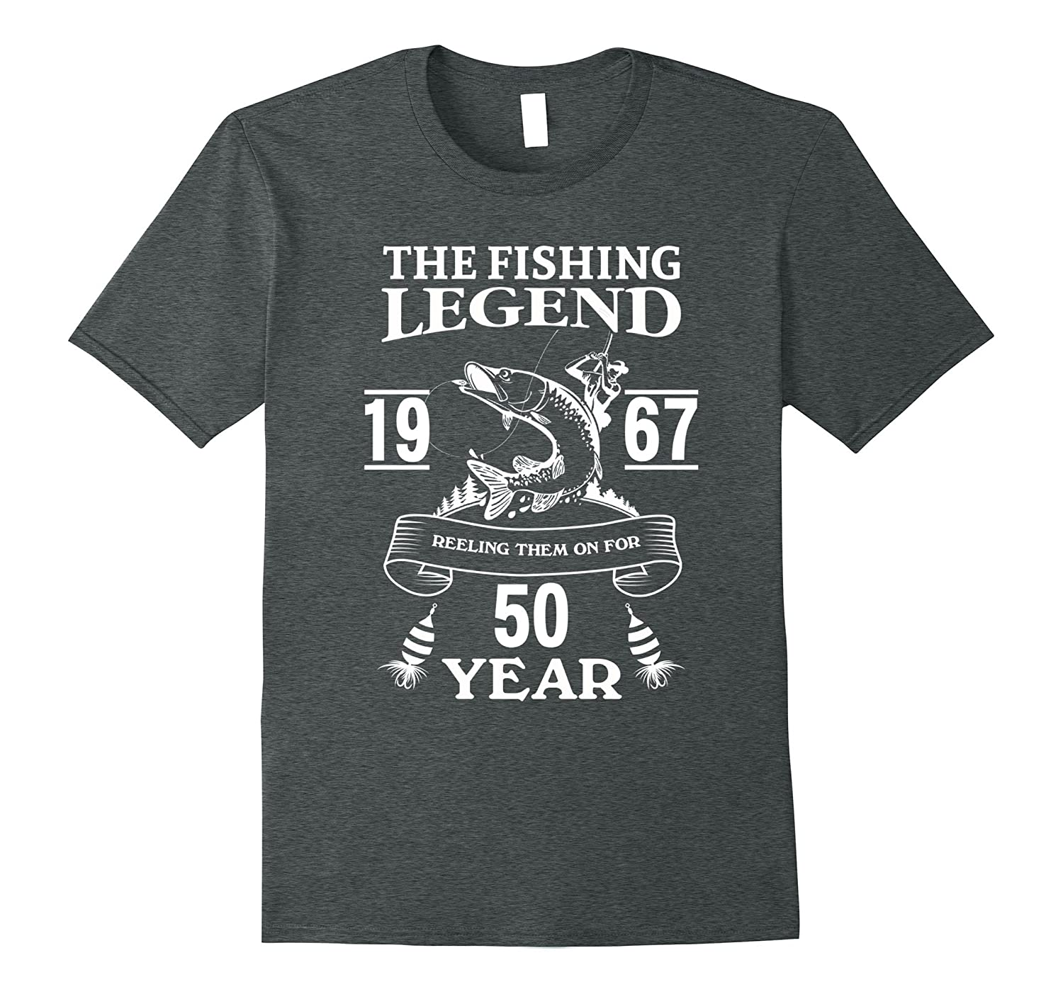 Mens 50 Years Old 1967 Fishing Birthday Gifts Tshirt For Men Dad TJ