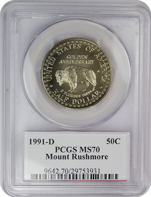 "Deep Cameo! 1991 S PROOF /""Rushmore/"" Commemorative Dollar 90/% Silver"