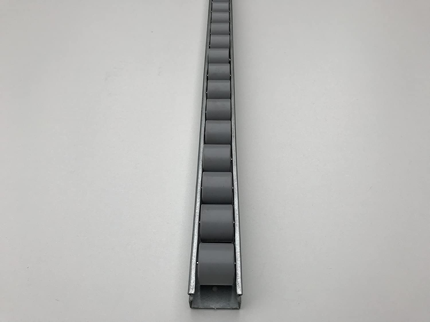 Roller Track Flow Rail Roller Gravity Conveyor with Plastic Wheels Dia 28 mm Length: 0.5 m