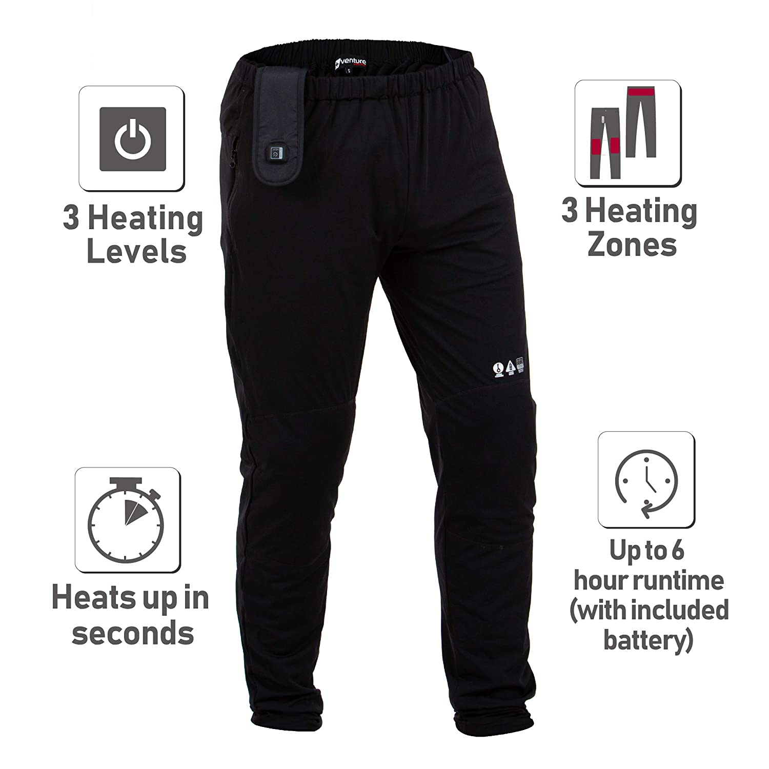 The Trekker Heated Pants for Men Venture Heat Heated Baselayer Pants with Battery 6 Hour Heated Pants for Women