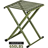 Amazon Com Stansport Folding Camp Stool Black 16 X 14