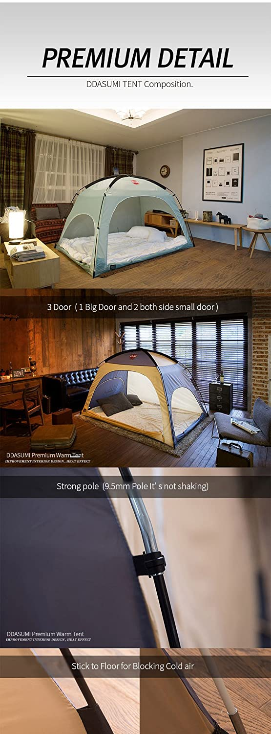 Amazon.com DDASUMI Warm Tent For Double Bed Without Floor (Mint) - Blocking Cold air Privacy Play Indoor Tent Home u0026 Kitchen & Amazon.com: DDASUMI Warm Tent For Double Bed Without Floor (Mint ...