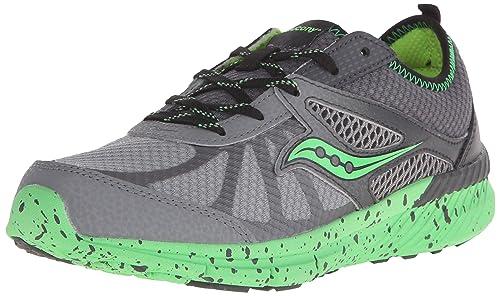 Zapatillas Running para niño Gris/Verde Talla 35,5: Amazon.es: Zapatos y complementos