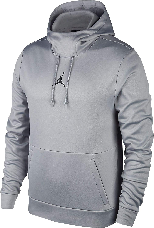 Carbon Heather//Black 861559-091 Jordan Mens Therma 23 Alpha Training Pullover Hoodie