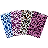 Multi-Color Assorted Plush Felt Animal Tiger Cheetah Print Design Spiral Bound Notebook Pads for Children Classroom, Party Favors, Note Paper (12 Pack) by Super Z Outlet