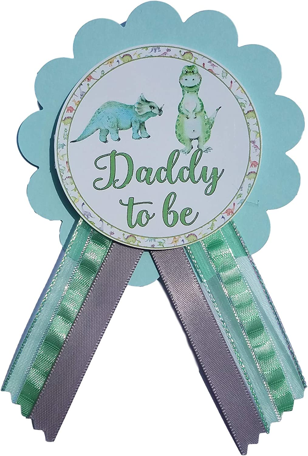 1 dad 1 mom and 17 guest Baby dino-themed baby shower pins