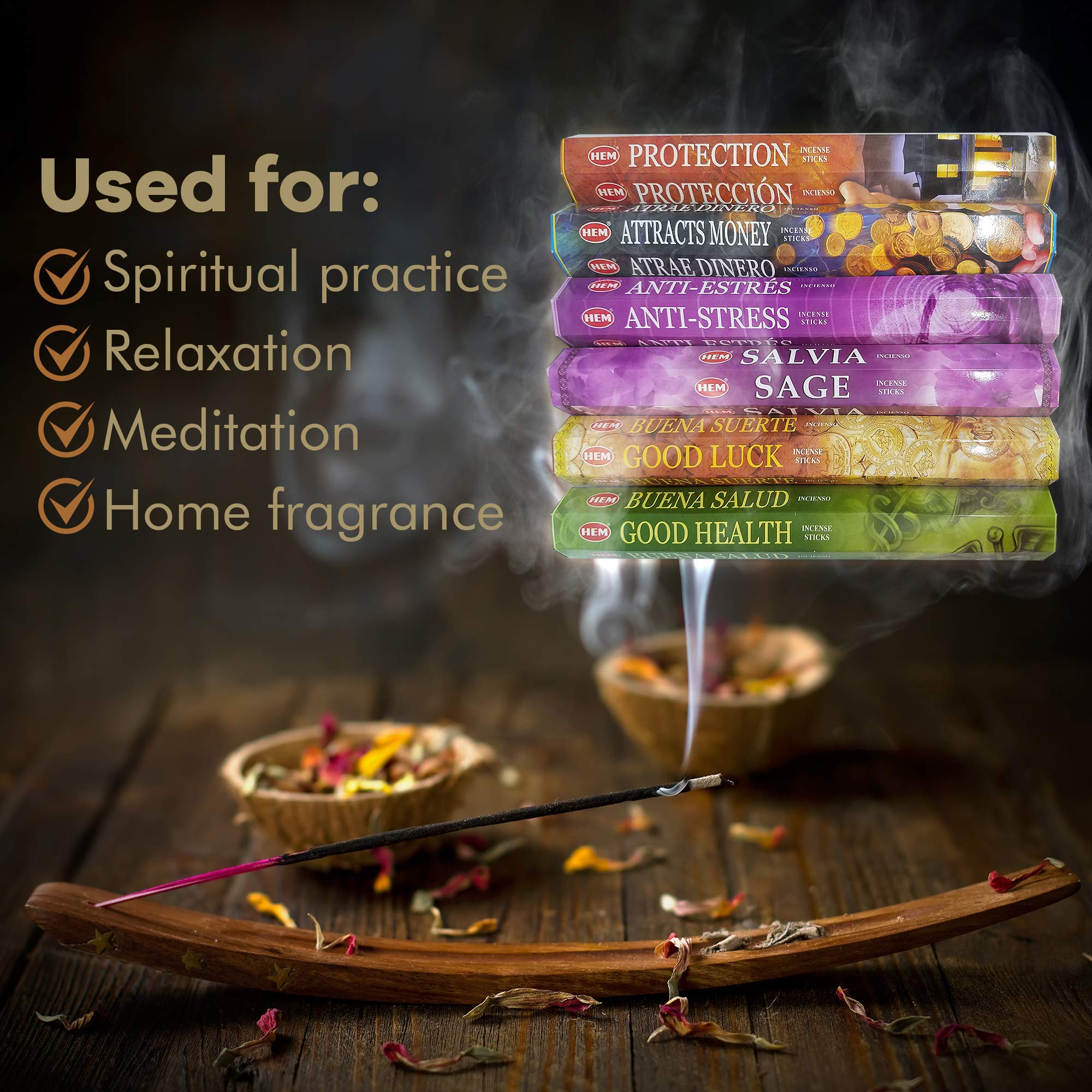 AurAmbiance New Age Feng Shui Incense Stick Spiritual Gifts Set; Inscents Sticks for Natural Healing & Protection by AurAmbiance (Image #2)